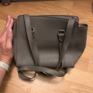 Gray barely used purse